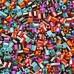 Hama Midi 1,000 Bead Bag - Mix Everything Striped