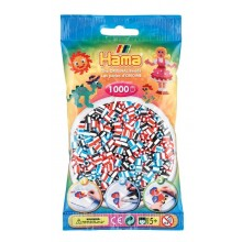 Hama Midi 1,000 Bead Bag - Mix White Striped